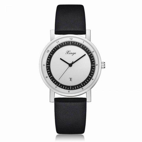 Xinge Hommes Date Calendrier Cuir Bande montres XG001