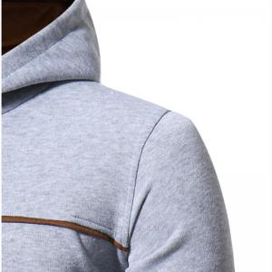 Men's Casual Daily Punk  Gothic T-shirt Color Block Hooded Long Sleeves Cotton -