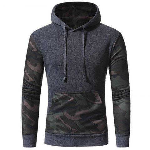 Store Men's Casual Hoodie Solid Micro-elastic Cotton Long Sleeves Fall Winter