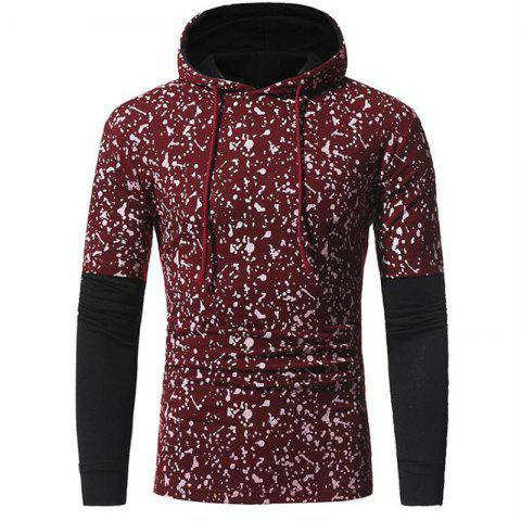 Store Men's Casual Daily Simple Hoodie Print Hooded Micro-elastic Cotton Long Sleeve Fall Winter