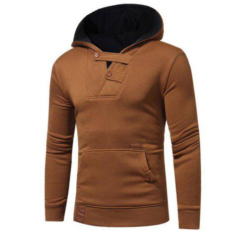 Discount Hot Sale Men's Sports Holiday Casual Daily Hoodie Solid Oversized Hooded Micro Elastic Cotton Long Sleeve Fall Winter