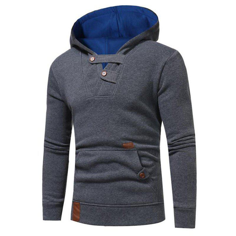 Outfit Hot Sale Men's Sports Holiday Casual Daily Hoodie Solid Oversized Hooded Micro Elastic Cotton Long Sleeve Fall Winter