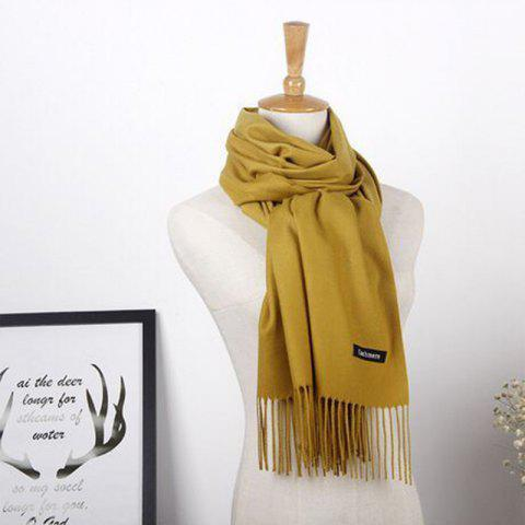 Shops Autumn Cashmere Scarf Monochrome New Female Tassel Double Color Nap Scarf Shawl