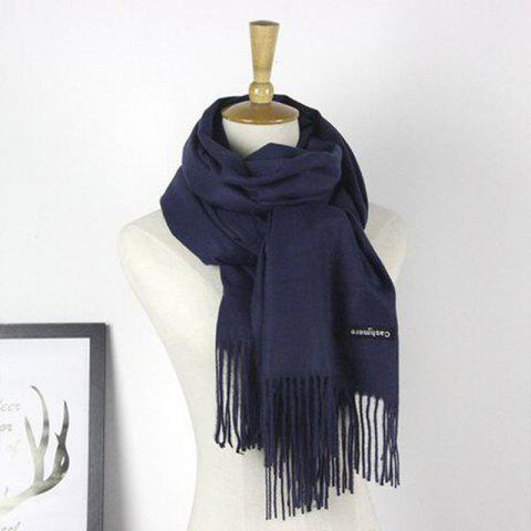 Online Autumn Cashmere Scarf Monochrome New Female Tassel Double Color Nap Scarf Shawl