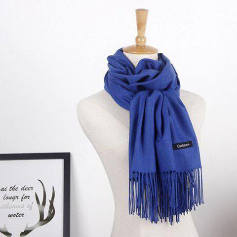 Discount Autumn Cashmere Scarf Monochrome New Female Tassel Double Color Nap Scarf Shawl