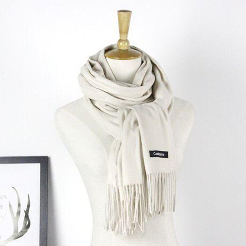 Affordable Autumn Cashmere Scarf Monochrome New Female Tassel Double Color Nap Scarf Shawl