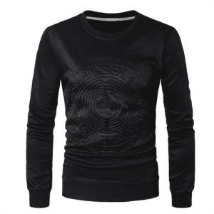 2018 Spring and Summer Turtleneck Totem Long Sleeved T-Shirt -