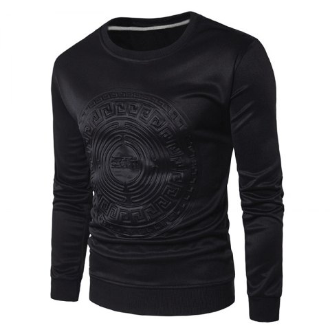 Online 2018 Spring and Summer Turtleneck Totem Long Sleeved T-Shirt