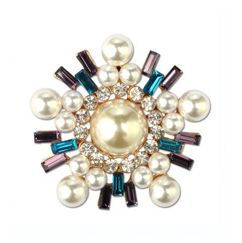 Hot Snowflake Silver Plated Brooch Rhinestone and Imitation Pearls Brooches For Female Pins Lapel Pin Women