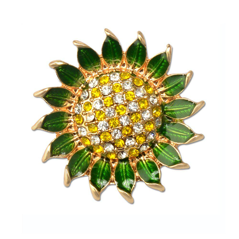 Best Fashion Enamel Garment Jewelry Brooch Pin Decoration Cute Sunflower Vestidos Broach For women girl gift
