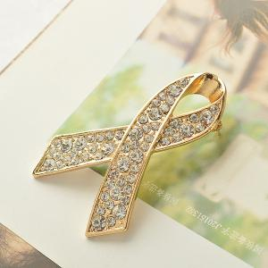 Ribbon Crystal Brooch Rhinestone for Women Dress Scarf Brooch Pins Jewelry Accessories -