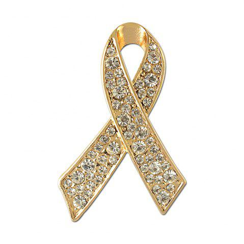 New Ribbon Crystal Brooch Rhinestone for Women Dress Scarf Brooch Pins Jewelry Accessories