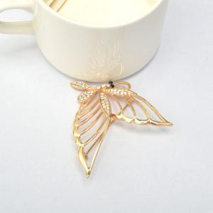 Fashionable Rhinestone Butterfly Brooch Pin -