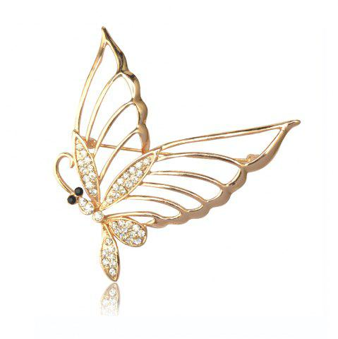 Hot Fashionable Rhinestone Butterfly Brooch Pin