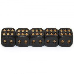 5PCS Western Wedding Supplies Creative Dice Capsules 3D Resin Stereo Rounded Amusement -