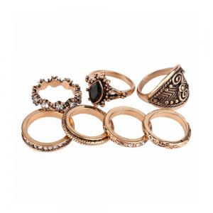 Atongm 7 Pieces European and American Fashion Rings -