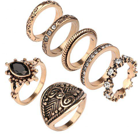 Best Atongm 7 Pieces European and American Fashion Rings