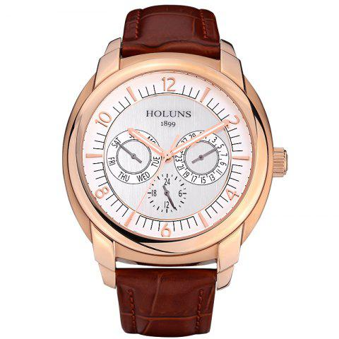 Fashion HOLUNS 1166 Business Trend Month Shows A Waterproof Belt of Men Quartz Watch