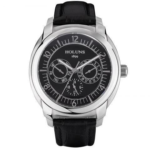 Online HOLUNS 1166 Business Trend Month Shows A Waterproof Belt of Men Quartz Watch