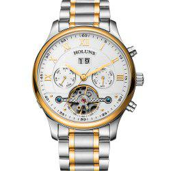 HOLUNS 1182 Shows A Waterproof Steel Band Man Quartz Watch -