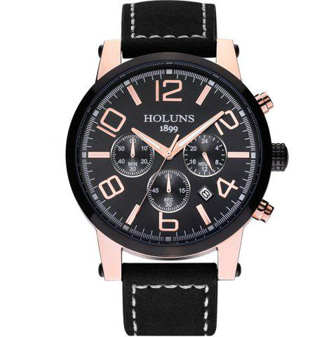 Affordable HOLUNS 1179 Multi Functional Waterproof Belt for Men Quartz Watch