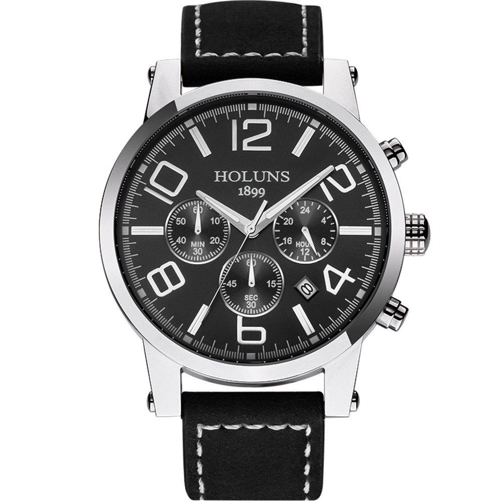 Fashion HOLUNS 1179 Multi Functional Waterproof Belt for Men Quartz Watch