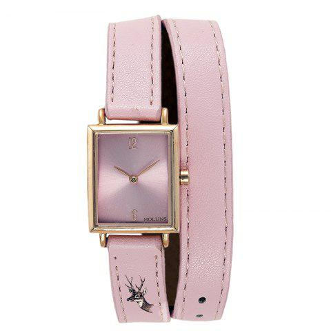 Cheap HOLUNS 1173 Fashion Trend Square Dial with Two Stitches of Lady Quartz Watch
