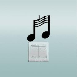 Music Notes Switch Sticker Music Room Vinyl Wall Stickers for Bedroom Home Decor -