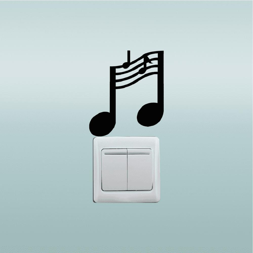 Hot Music Notes Switch Sticker Music Room Vinyl Wall Stickers for Bedroom Home Decor