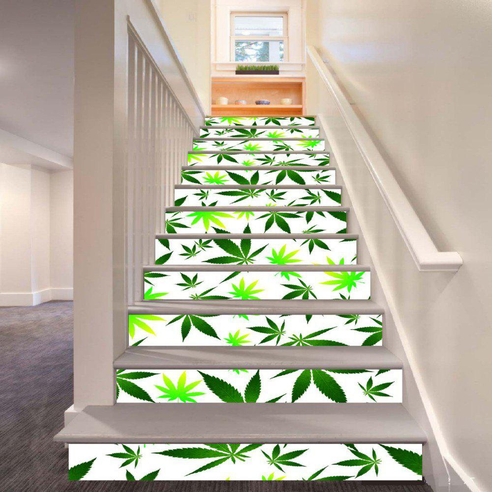 Trendy Leaves Pattern Style Stair Sticker Wall Decor LTT032