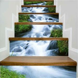 Rush of Water Pattern Style Stair Sticker Wall Decor LTT033 -