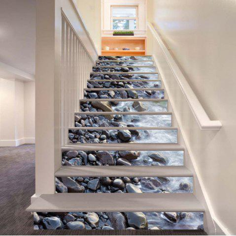 Outfit Gravel Pattern By The River Pattern Style Stair Sticker Wall Decor LTT034