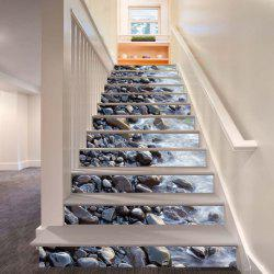 Gravel Pattern By The River Pattern Style Stair Sticker Wall Decor LTT034 -