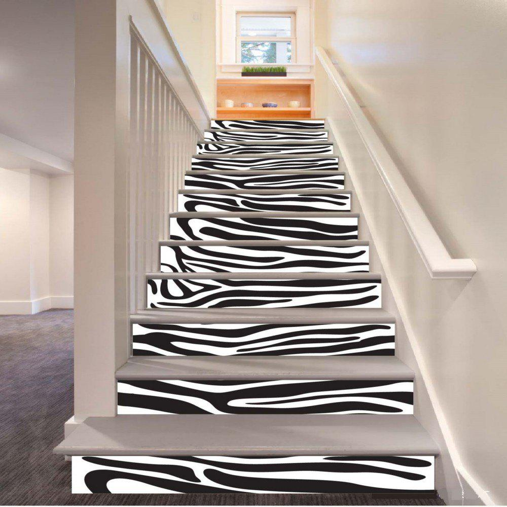 Hot Stripe Pattern Style Stair Sticker Wall Decor LTT037
