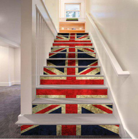 Discount Colored Flags Pattern Style Stair Sticker Wall Decor LTT039