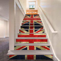 Colored Flags Pattern Style Stair Sticker Wall Decor LTT039 -