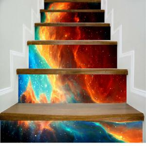 Beautiful Dream Flame Pattern Style Stair Sticker Wall Decor LTT040 -