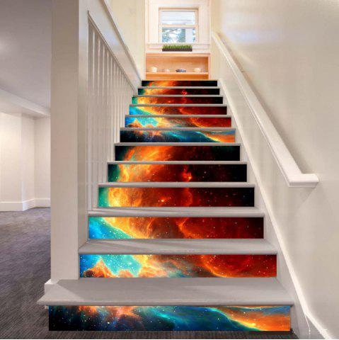 Chic Beautiful Dream Flame Pattern Style Stair Sticker Wall Decor LTT040