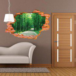 3D Bamboo Scenery Wall Sticker Removable Forest Tree Wall Decals -