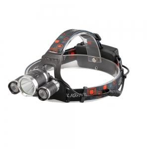 U'King ZQ-X807 1600LM 3 LEDs 4 Mode Portable Headlamp with Chargers and Batteries -