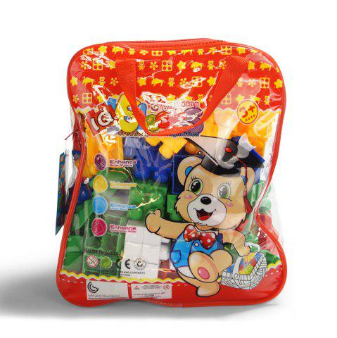 Latest Pp children big granule puzzle early education plastic collage block toy back pack