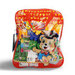 Pp children big granule puzzle early education plastic collage block toy back pack -