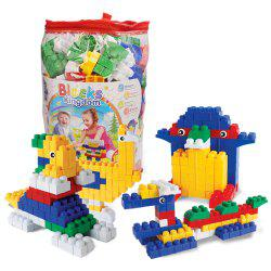Children big granule plastic early education puzzle piece together DIY building block toys -