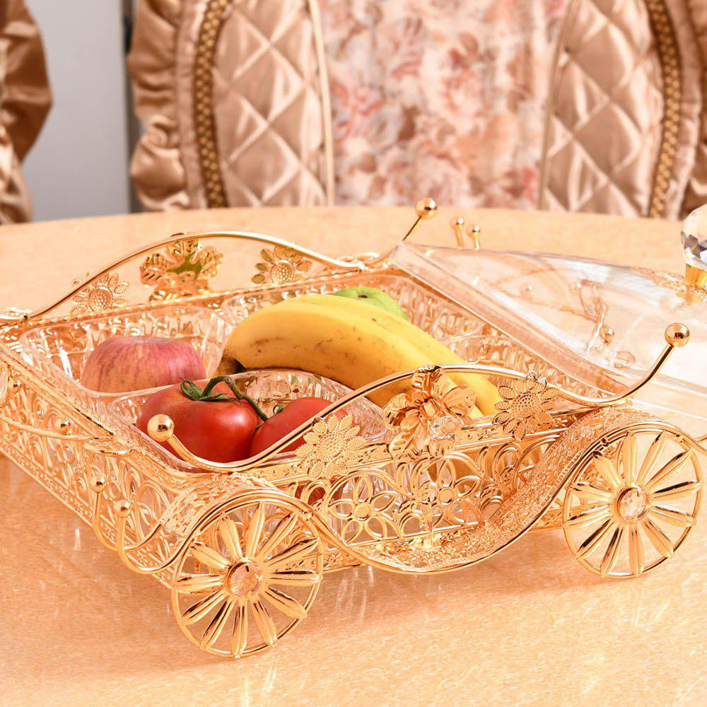 Hot Exquisite metal hollow with a fruit tray fruit basket hotel appliancesSGL01-4