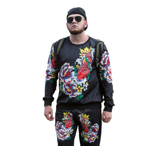 Chic Autumn and Winter New Trend of Large Size Men'S Sports and Leisure Men'S Sweatshirt PCW70029B