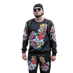 Autumn and Winter New Trend of Large Size Men'S Sports and Leisure Men'S Sweatshirt PCW70029B -