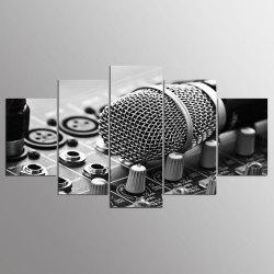 YSDAFEN HD Printed Music Microphone Canvas Print Room Decor -