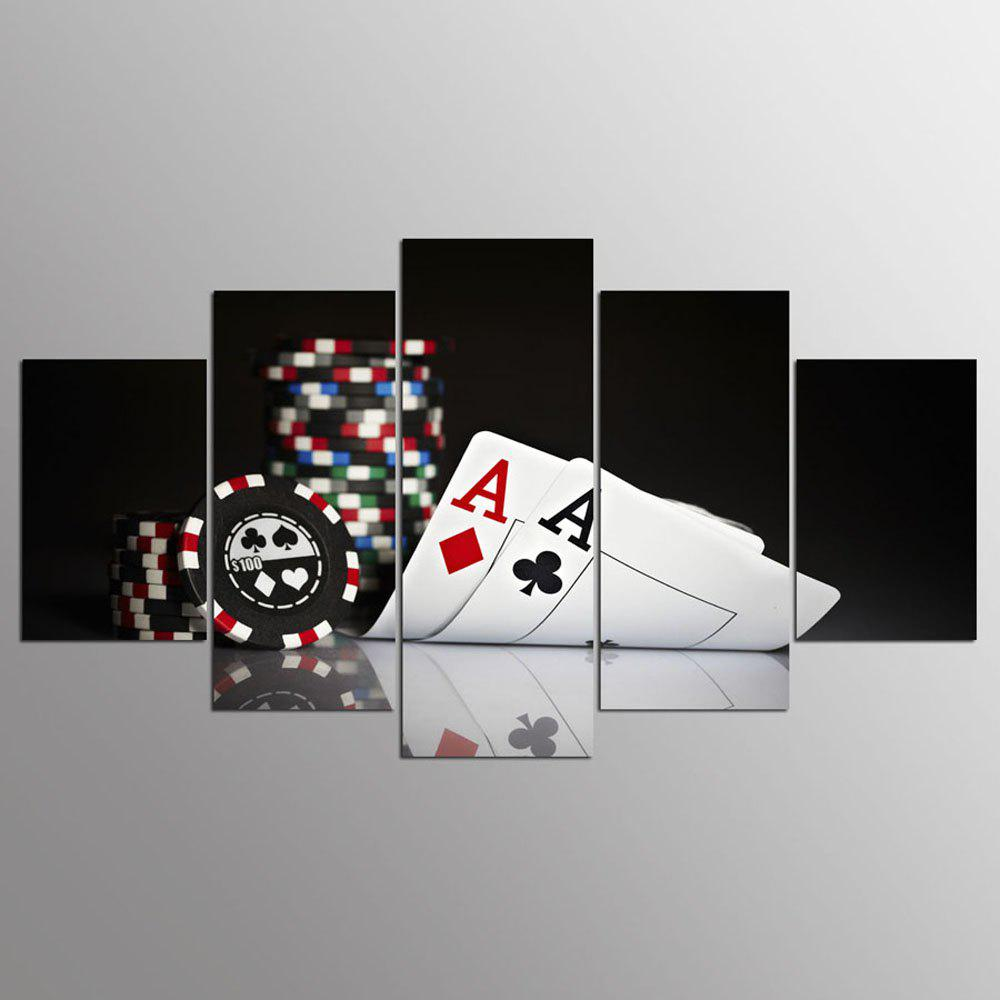 Fashion YSDAFEN 5 Panel HD Poker Canvas Print Room Decor Poster Picture