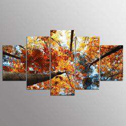 YSDAFEN HD Golden Leaves Canvas Print Room Decor Print Poster Picture -