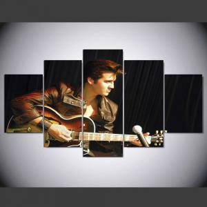 YSDAFEN 5 Panel HD Printed Elvis Presli Elvis Presley Canvas Print Room Decor -